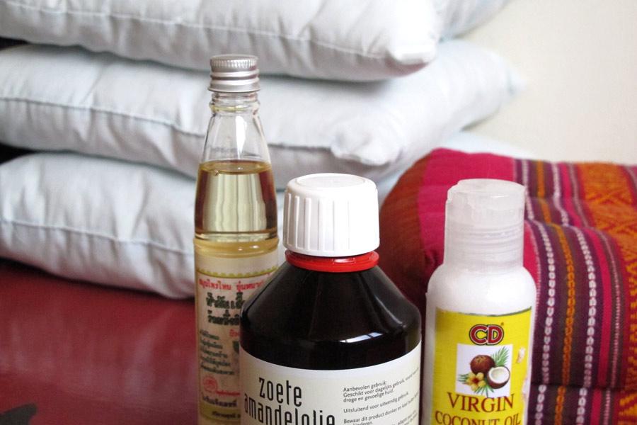 massage kussentjes en olie